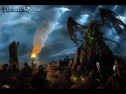 Rpg Tibia Dragon Gaming Pc Undead Warrior