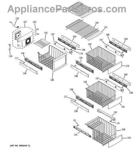 parts  ge pswpswass ice maker dispenser parts
