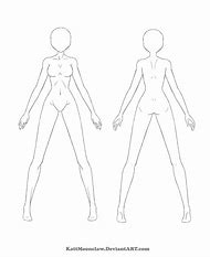 Female Anime Character Body Template
