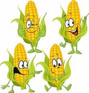 Corn cartoon characters vector material | cute and picture