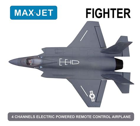 4 Ch Max Jet 64mm Fighter Electric Ducted Fan Jet Kit