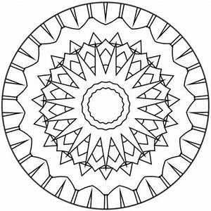 Coloriages Coloriage De Mandala N134 Frhellokidscom