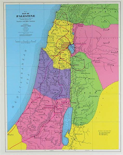 detailed palestine  testament map detailed