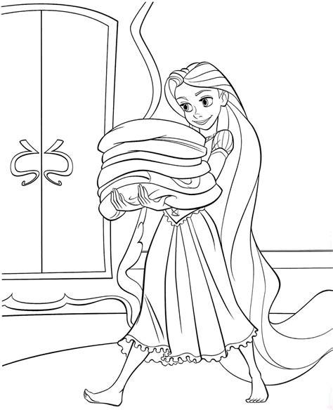 coloring pages disney princess tangled rapunzel