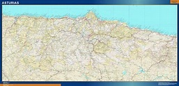 Biggest Province Huesca map from Spain | Wall maps of the ...