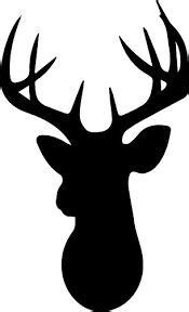 stag head pattern   printable outline  crafts