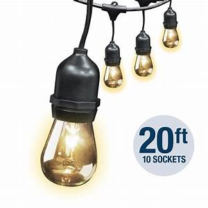 20 foot string light feit electric for 20 foot outdoor string lights