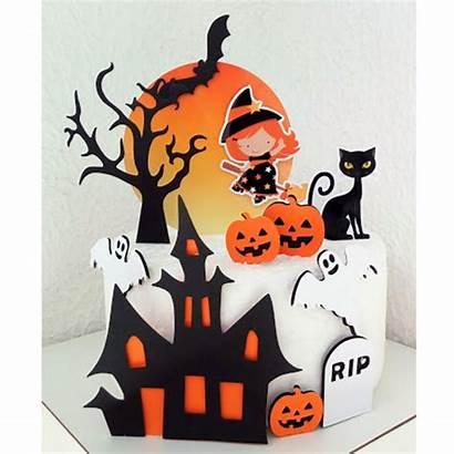Halloween Bolo Topo Arquivo Corte Elo7