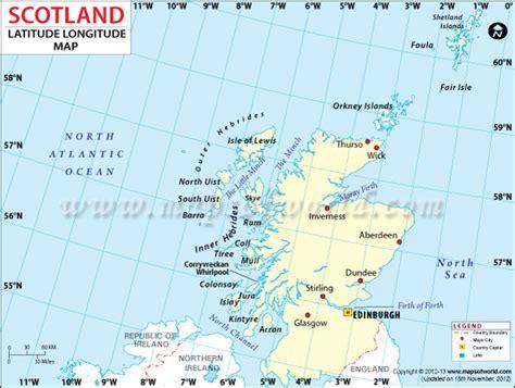 Scotland Latitude And Longitude Map
