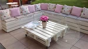 Salon De Jardin Palettes : 1000 images about palette meuble on pinterest ~ Farleysfitness.com Idées de Décoration