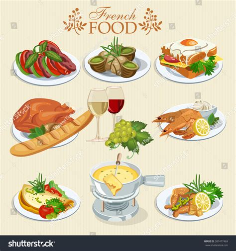 national cuisine of vector set cuisine national food stock vector