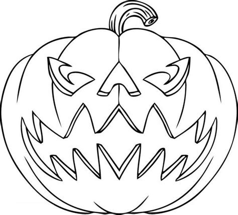 jack  lantern coloring page festival collections