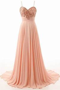 Custom Made Light Spaghetti Strap Prom Dresses, Pink ...