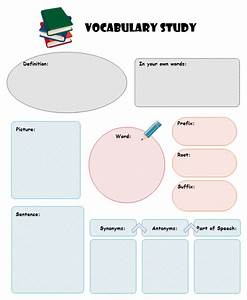 vocabulary study graphic organizers free templates With vocabulary graphic organizer templates