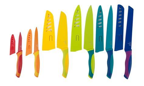 colorful kitchen knife set kitchen colored knife set groupon goods 5573