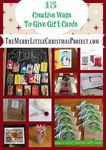 15 Creative Ways to give Gift cards! | The Merry Little ...