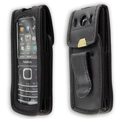 casing nokia 6500 classic nokia 6500 classic leather with belt clip black
