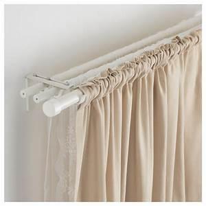 Double Rideaux Ikea : r cka curtain rod white products pinterest rideaux tringle rideau and rideaux ikea ~ Teatrodelosmanantiales.com Idées de Décoration