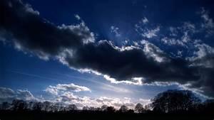 Dark, Blue, Cloudy, Sky