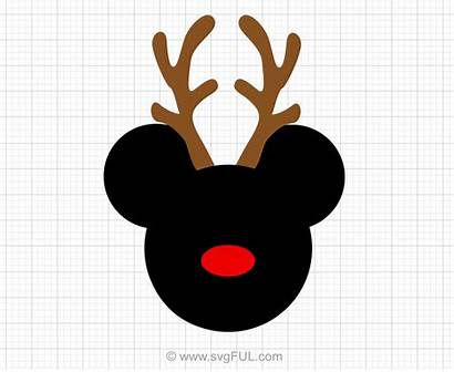 Mickey Svg Mouse Reindeer Clipart