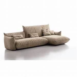 Canape design avec chaise longue sonora 3 cuir ou tissu for Tapis design avec canape chaise