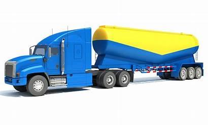 Truck Semi Trailer Tanker 3dhorse Oil