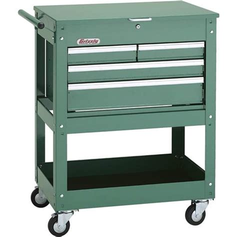 4 drawer tool cart rolling tool cart w 4 drawer tool chest grizzly industrial