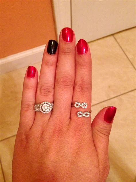 Cute Manicures That Show Off Your Engagement Ring  Glam Radar. Green Stone Rings. Kid Wedding Rings. Wine Rings. Basic Mens Wedding Rings. Phone Rings. Jasper Rings. Large Stone Rings. Charmed Aroma Rings