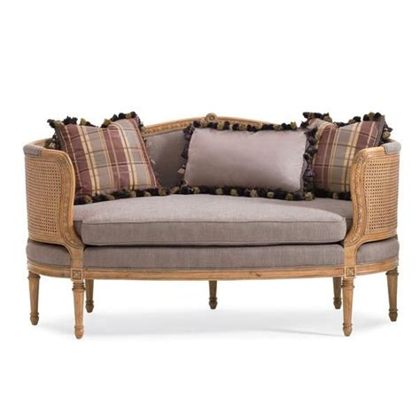 Spell Settee by Caracole Petit Seat Carved In Solid Birch This Settee