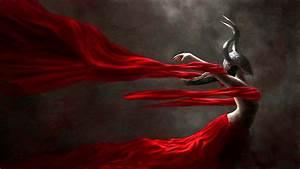 Red, Dress, Fantasy, Girl, Character, Beautiful, Long, Hair, Woman, Wallpapers, Hd, Desktop, And