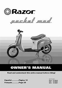 Pocket Mod Razor Scooters Owner Manual