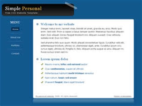 simple css templates simple personal free website template free css templates free css