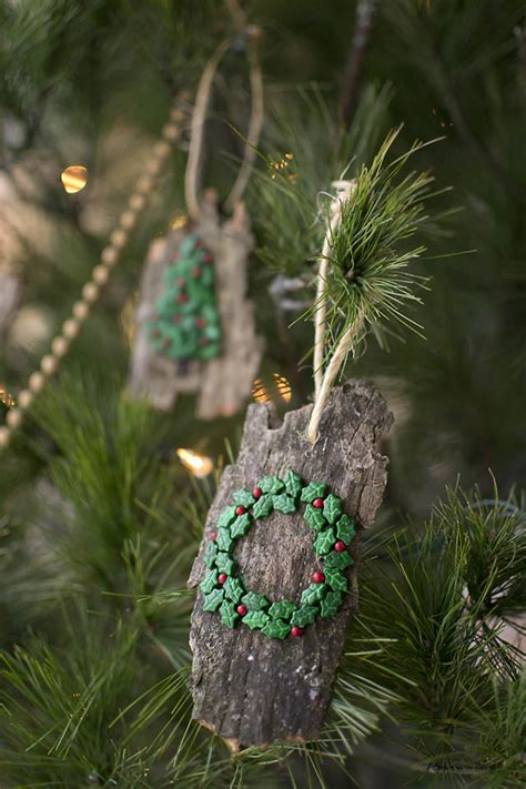 DIY Christmas Ornaments from Bark (That Kids Can Make!)