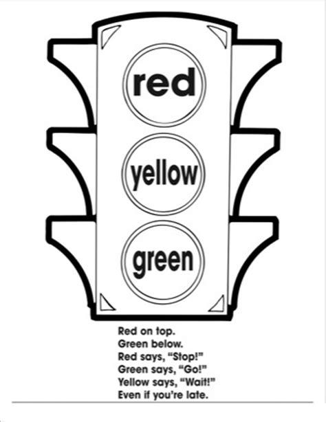 traffic light coloring worksheets kıds 2 171 preschool and