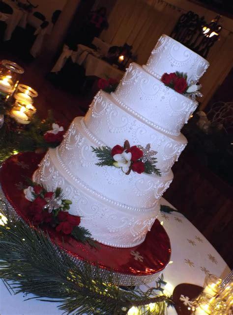 christmas wedding cake cakecentralcom
