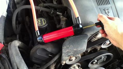 How To Pump Transmission Fluid Out Of Dipstick Tube