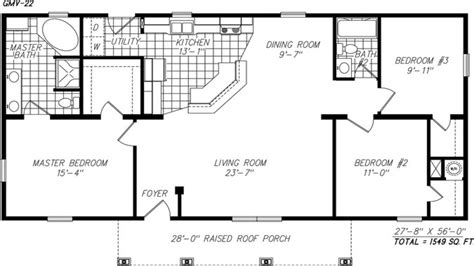 Simple One Story Floor Plans Single Story Open Floor Plans ...