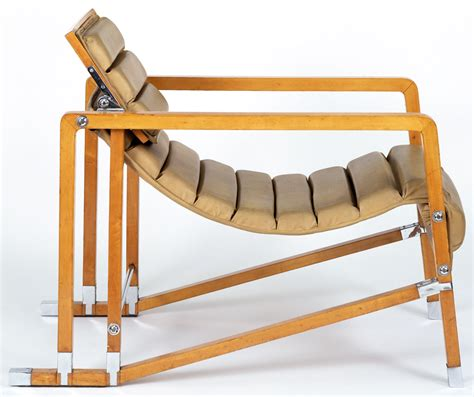 1927 transat armchair designed for e 1027 house in roquebrune by eileen gray jean badovici
