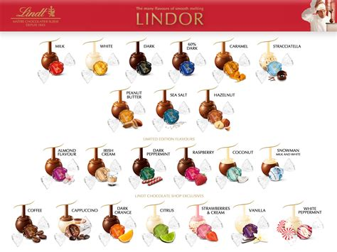 lindor colors lindor chocolate flavors colors lindor truffles flavors