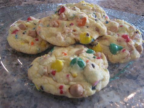 rainbow cake mix cookies aka party cake cookies recipe