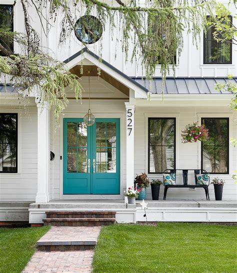 modern white kitchen backsplash white farmhouse with wrap around porch home bunch