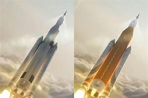 NASA's SLS booster sheds Saturn V color scheme in design ...