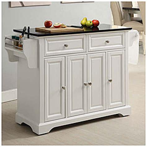Granite Top 4door White Kitchen Cart  Big Lots