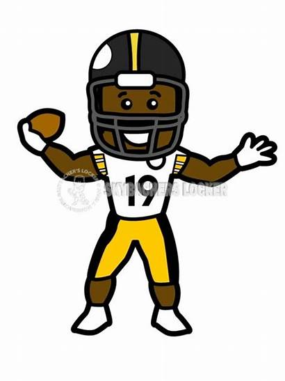 Cartoon Juju Smith Schuster Steelers Clipart Pittsburgh