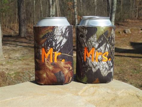 camo wedding koozies custom camoflauge set   doodlegirls