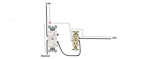 Have Double Switch Controls Disposal Light