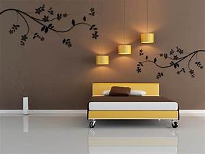 Wall painting design ideas for Wall decorating ideas for bedrooms
