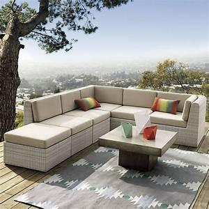 idee amenagement terrasse pour un exterieur moderne ideeco With tapis de sol avec canapé nebraska