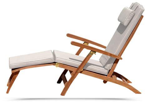 sedie sdraio da terrazzo poltrona sdraio da giardino aggie in legno teak con