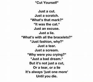"""""""Cut Yourself"""" is a horribly beautiful poem about ..."""
